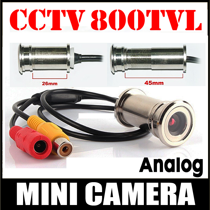 11.11 Hot Sale 800TVL CMOS HD Door Cat Eye Hole Install Mini Camera 3.6 Lens CCTV Security Surveillance Vidicon Home Video Metal