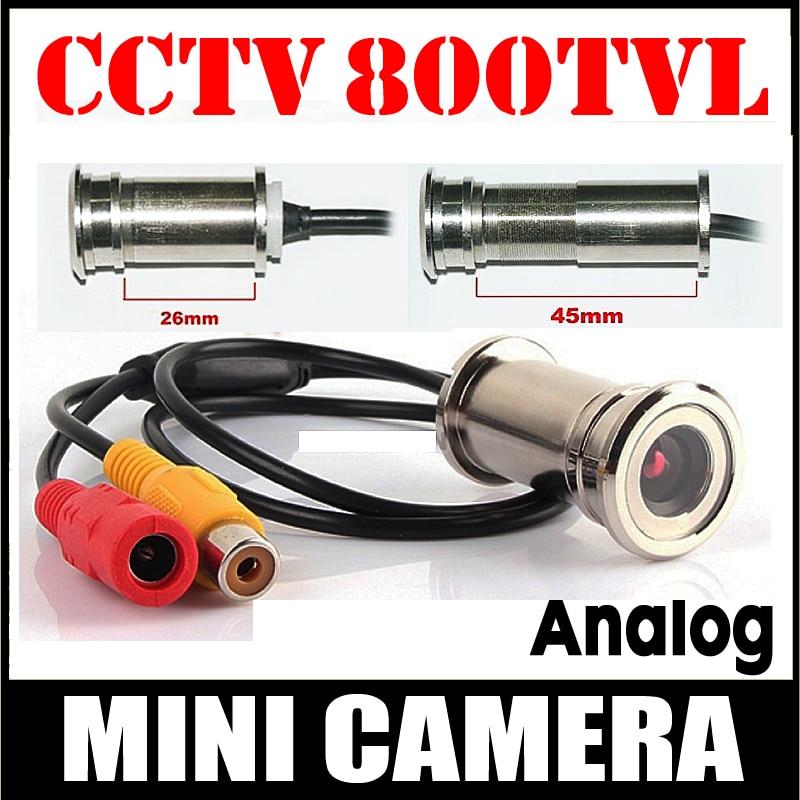 11.11 Hot Sale 800TVL CMOS HD Door Cat Eye Hole Install Mini Camera 3.6 Lens CCTV Security Surveillance Vidicon Home Video Metal