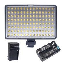 Mcoplus Travor TL-120 Luz de Vídeo LED con 1x NP-F550 Batería + cargador para canon nikon sony dslr dv videocámara de la cámara vs cn-126