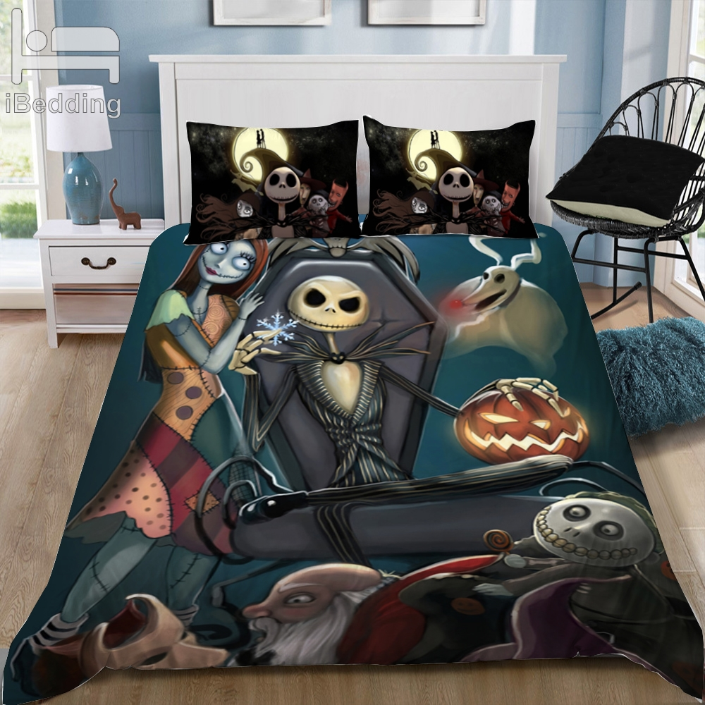 The Nightmare Before Christmas 3D Bedding Set Printed Duvet Cover Set Queen King Twin Size Drop ship