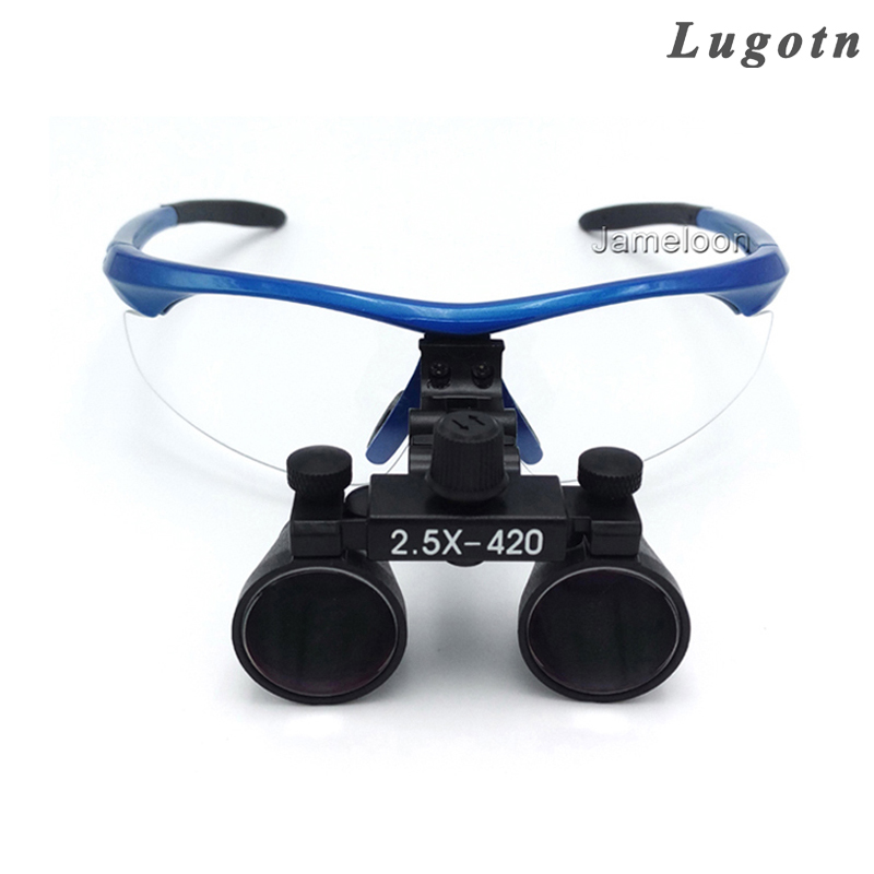 2.5X magnification dental magnifier medical binocular loupes antifog optical glasses dentist doctor operation surgical loupe
