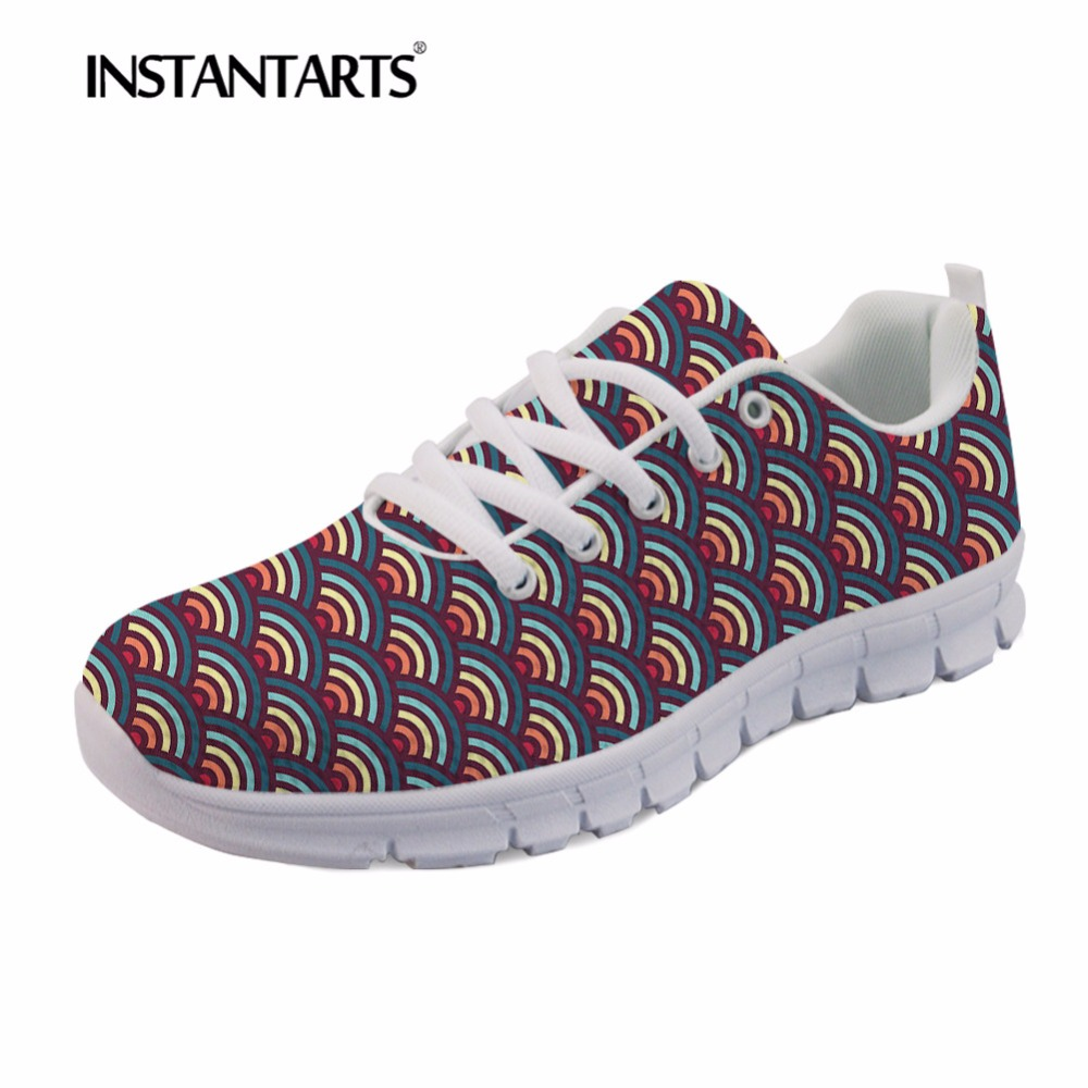 Dames Imprimer Aq Mode Feminino Respirant Casual Sneakers Custom Chaussures Lace 3d Femmes Up hk567aq Appartements Instantarts Tenis Rainbowaves De wqvATAZ