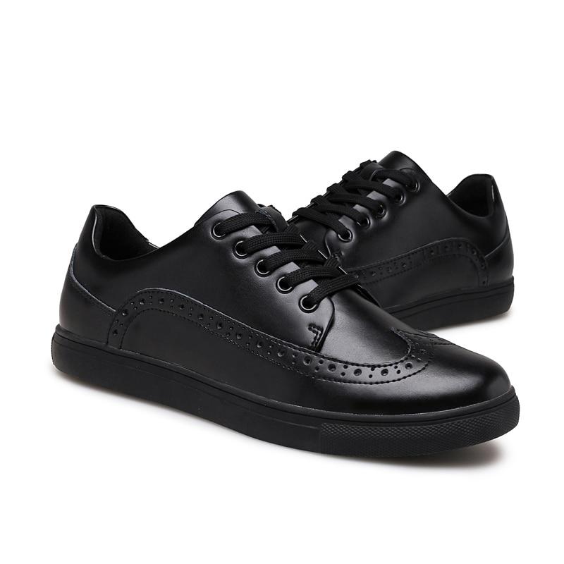 Hombre Sneakers Para Chaussures Respirant Plus Casual En Taille Qualité 38 Véritable blanc Confortable 48 Haute Noir Cuir Zapatos Hommes w71PHq0I