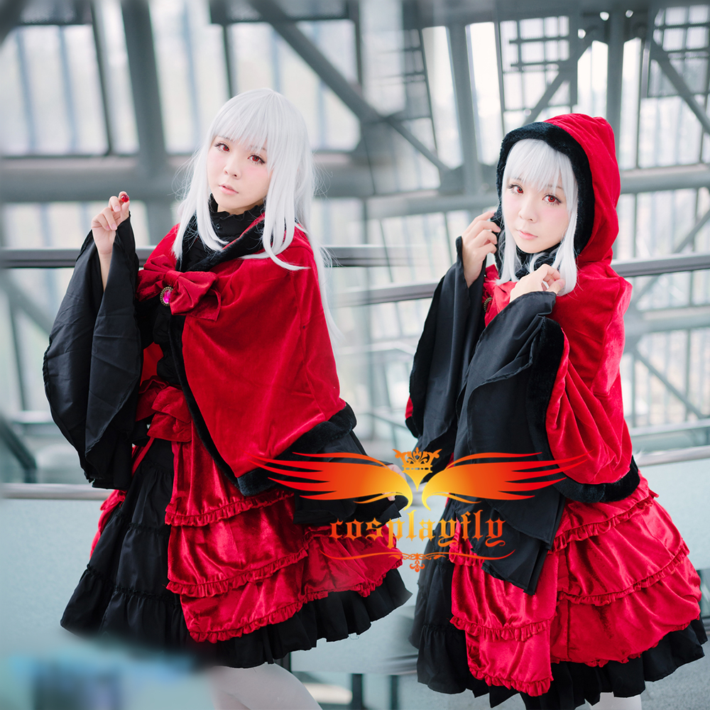 K Anime Anna Kushina Winter Red&Black Outfit Cosplay Costume Custom  Adult Women Outfit Clothing Halloween Christmas