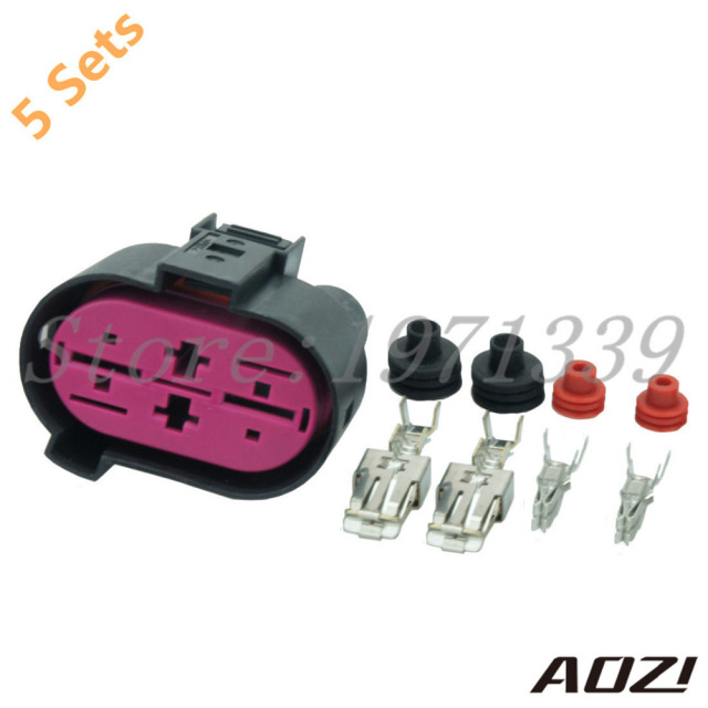 5 sets audi a3 a4 vw seat skoda wiring loom connector plug harness rh aliexpress com Spark Plug Wire Looms vw wiring harness connectors