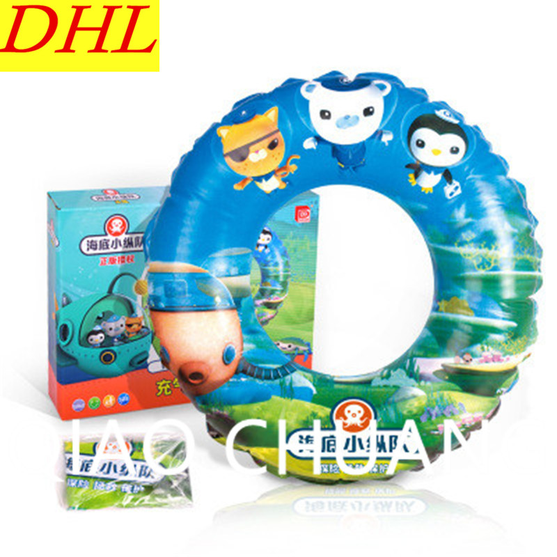 Wholesale 100pcs/lot Inflatable Children Floating Ring Swimming Ring PVC Thicken Play With Water Toy G1350