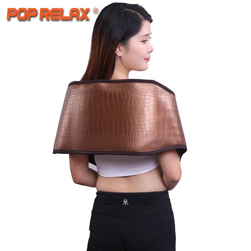 POP RELAX Germanio Tormalina Vita Cintura di Giada Pietra Lontano Infrarosso Terapia Fisica Termica Massaggiatore Salute Elettrico Cinghia di Massaggio