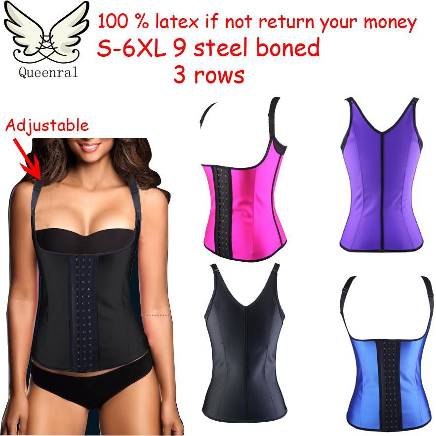 f937df19f Plus size cintura formação corset corpo feminino cinta modeladora de corpo  shaper quente latex cintura cincher instrutor fajas modeladoras cinta  modeladora ...