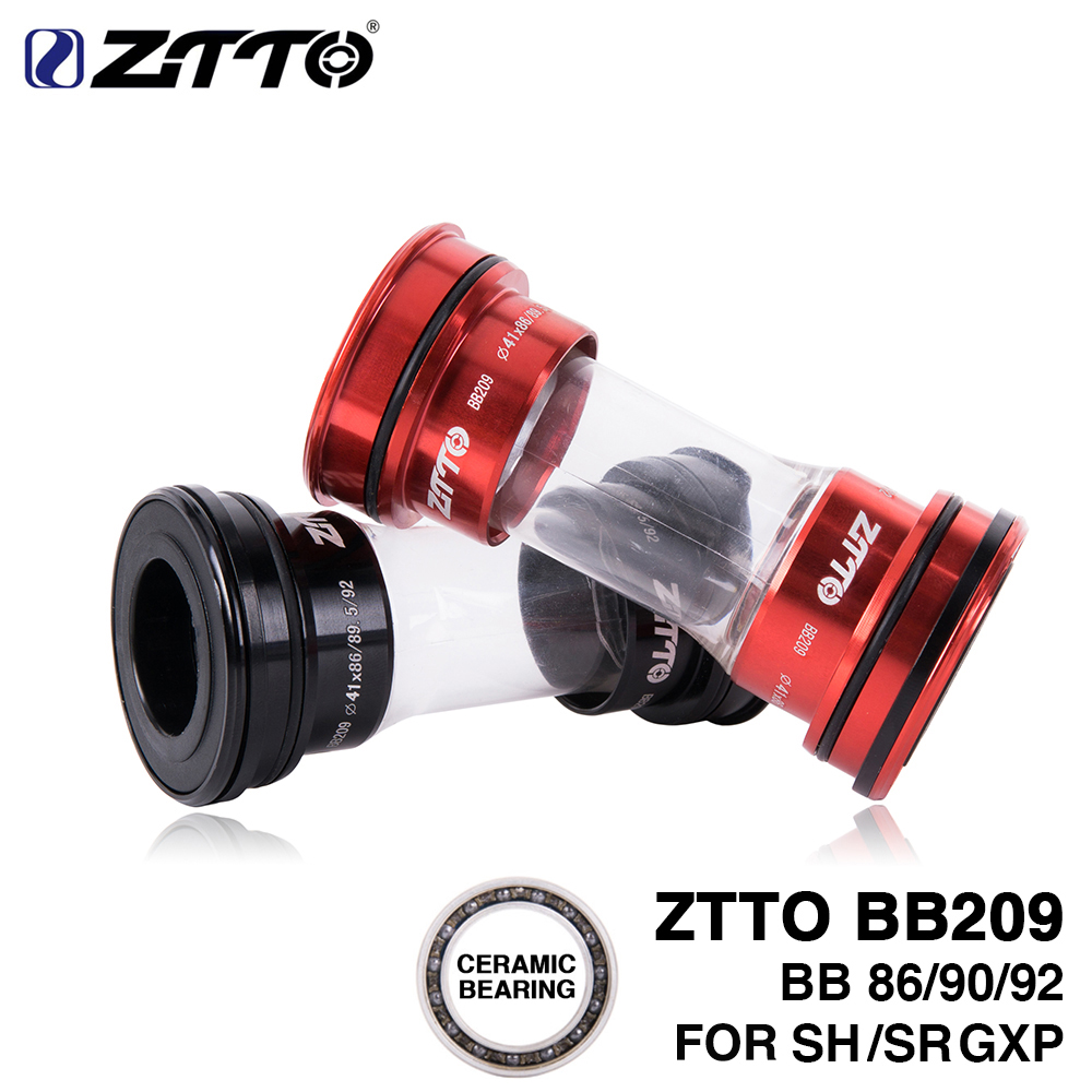 ZTTO Ceramic BB209 Press Fit Bottom Brackets for BB92 BB90 BB86 Frame compatible Road bike MTB 24mm 22mm GXP Crankset Universal