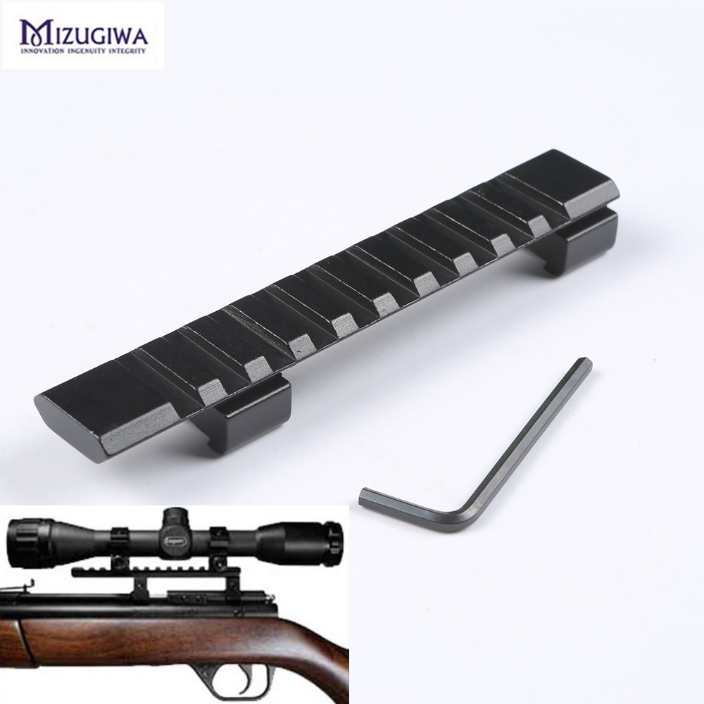 Scope Mount 11mm to 20mm Picatinny Rail Adapter Weaver Rail 10 Slots 124mm Length for Hunting Rifle Air Gun Scope Laser caza tactical 20mm picatinny weaver rail base adapter hunting rifle gun scope converter laser sight base flashlight mount