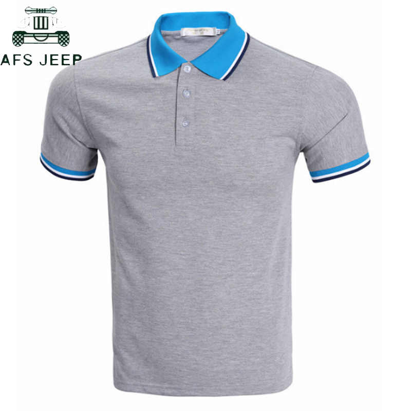 Новинка 2019, однотонные летние деловые рубашки поло, мужские футболки с коротким рукавом, дышащие повседневные поло, большие размеры