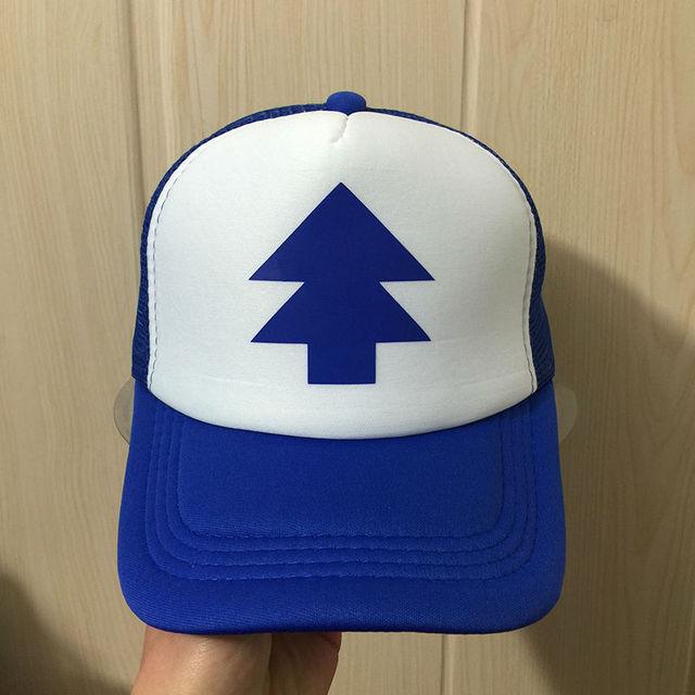 BLUE PINE TREE Print Trucker Cap Cartoon Fans Dipper Men Women Children Gravity  Falls Flat Bill 0e7a1e2abdfa