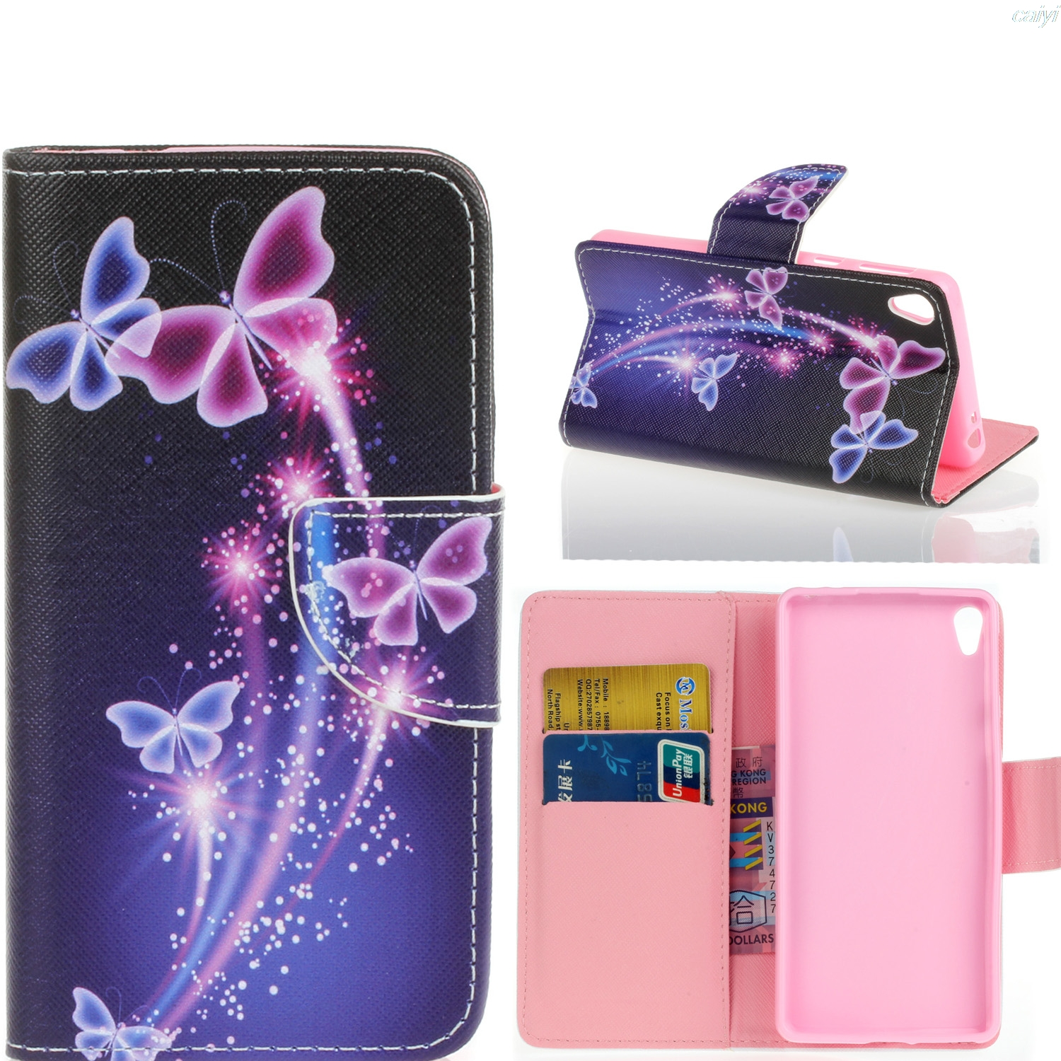 for sony xperia e5 cases cover pu leather phone bag flip. Black Bedroom Furniture Sets. Home Design Ideas