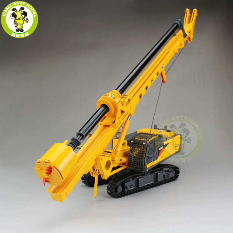 1/35 XCMG Rotary Drilling Rig Construction Model Diecast Model Car Toy Hobby Gift 1 35 xugong xcmg xe215c excavator alloy truck diecast model construction vehicles toy
