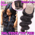 7A Brazilian Silk Base Closure Body Wave Virgin Human Hair Silk Closure Free Middle 3 Part Silk Top Lace Closure With Baby Hair