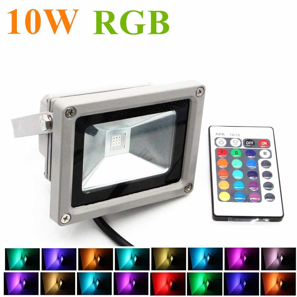spotlight rgb led flood light 10w rgb foco led exterior ip65 spot floodlight projecteur. Black Bedroom Furniture Sets. Home Design Ideas