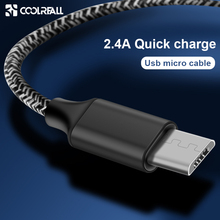 Coolreall Micro USB Cable 2.4A Fast Data Sync Charging For Samsung Huawei Xiaomi Charger Mobile Phone