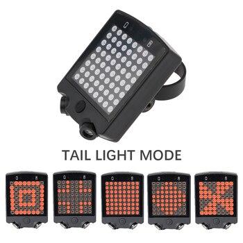 64 LED luz trasera de bicicleta a las señales de advertencia de seguridad bicicleta remoto inalámbrico