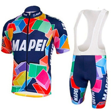 2017 MAPEI Summer men Cycling Jersey team Bike Short Suit cycling clothing Ropa Ciclismo MTB Bike Wear Culotte Set(China)