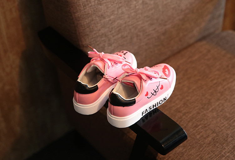 COZULMA Girls Boys Casual Shoes Sneakers 17 Children Sport Shoes Baby Boys Shoes Kids Letters Lace-Up Running Shoes Sneakers 6