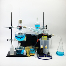 Новинка 500 мл лабораторная Дистилляция эфирного масла Аппарат Чистая вода наборы приборов из стекла