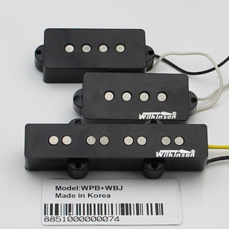 Han Wilkinson Electric bass pickups open pickup WPB+WBJ iba double open 4 string electric bass pickups black