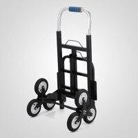 Europa Stock Tax Free Subir Escada Dobrável Carrinho Portátil Dolly Caminhão de Mão com Rodas De Backup