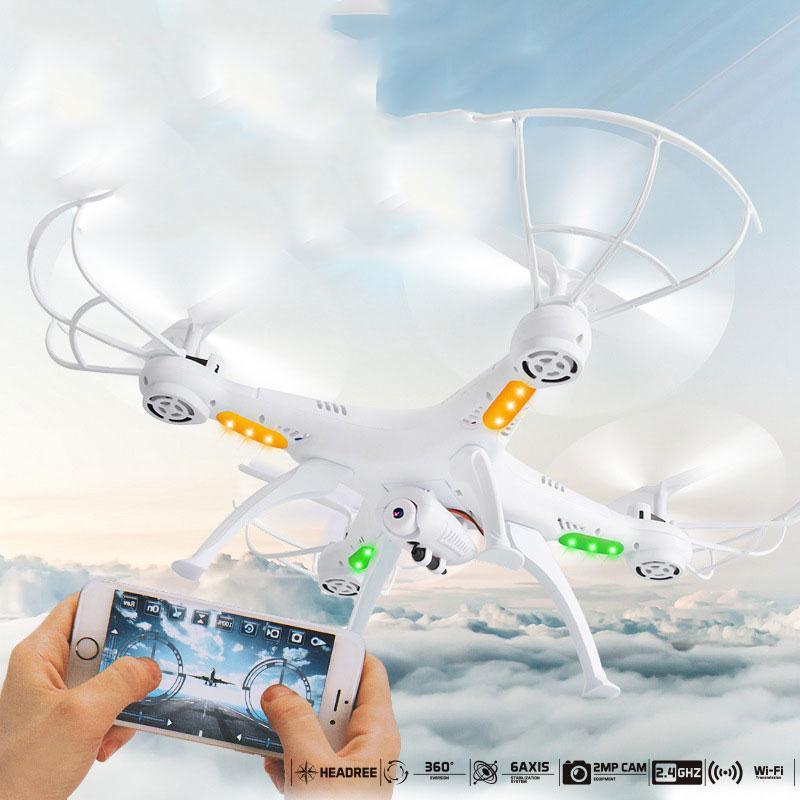 Nouveau 4 Axes Quadcopter Drone Temps WIFI Caméra Sans Tête Wifi Sans Fil Télécommande 2MP FPV Hélicoptère RC contiennent Drone Léger