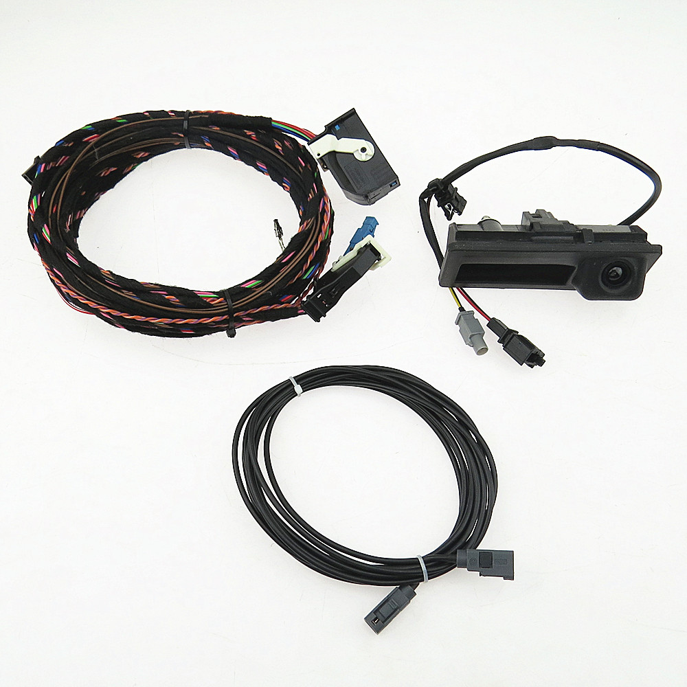 DOXA RGB Rear Video Camera + Cable Plug Harness Pigtail For VW Tiguan A4 A6 Q5 A7 RNS510 RCD510 RNS310 5N0827566C 5ND 827 566C цена