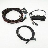 SCJYRXS RGB сзади видео Камера + штекер кабеля Жгут проводов косичка для Tiguan A4 A6 Q5 A7 RNS510 RCD510 RNS310 5N0827566C 5ND 827 566C