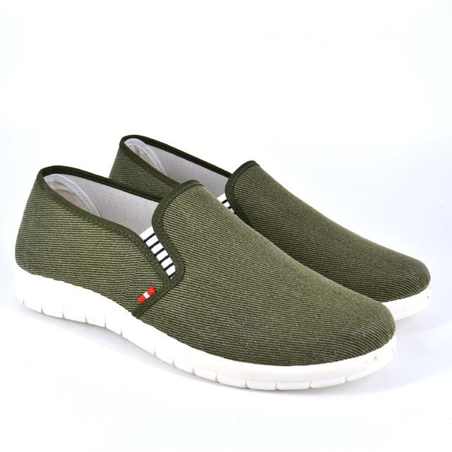 IVI Otoño Clásico moda hombres zapatos casual zapatos planos de los hombres de deslizamiento en los zapatos de lona transpirable Casual Zapatos Hombre