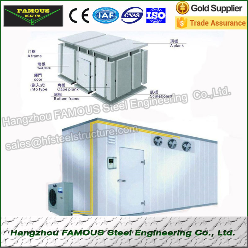 Quick Freezing Cold Room Made of Floor Panel and Polyurethane Injected Sandwich Panel Wall Roof