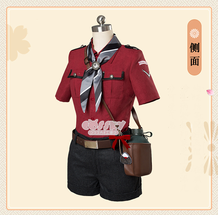 Anime! Game Touken Ranbu Online Hyuuga Masamune Uniform Cosplay Costume Summer Daily Clothes For Women Free Shipping