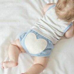 Calções De Treinamento Crianças PP calças Menina Cover Tecido Recém-nascidos do bebê Menino Roupa Interior Calcinha Crianças Criança spodenki szorty curtas