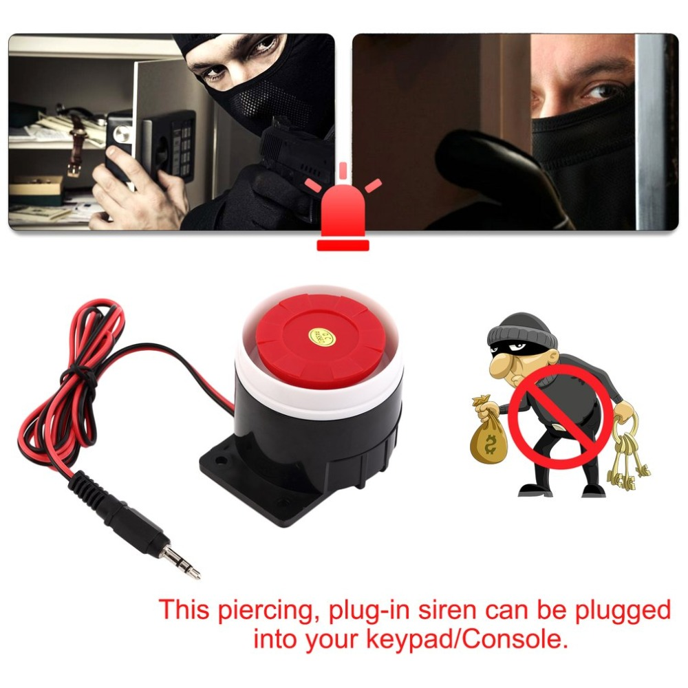 Super Loud 120dB Siren Red Wired Alarm System Speaker DC 12V Indoor Siren Durable Mini Horn Siren For Home Security Wholesale