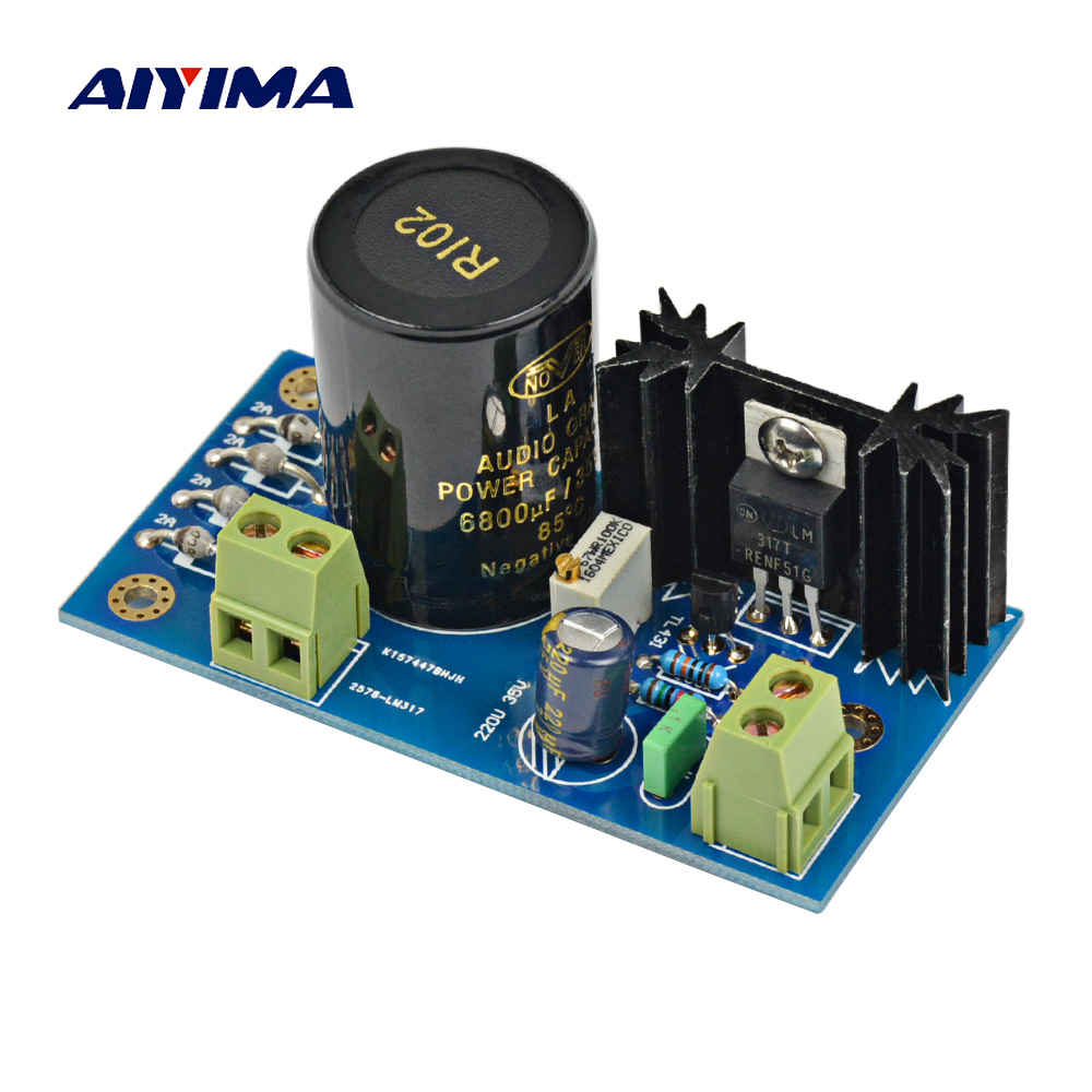 Aiyima LM317 + TL431 High Precision Linear Regulated Power Supply Board AC TO DC Power Supply Module For Amplifier lm317 lm317l lm317lz to 92