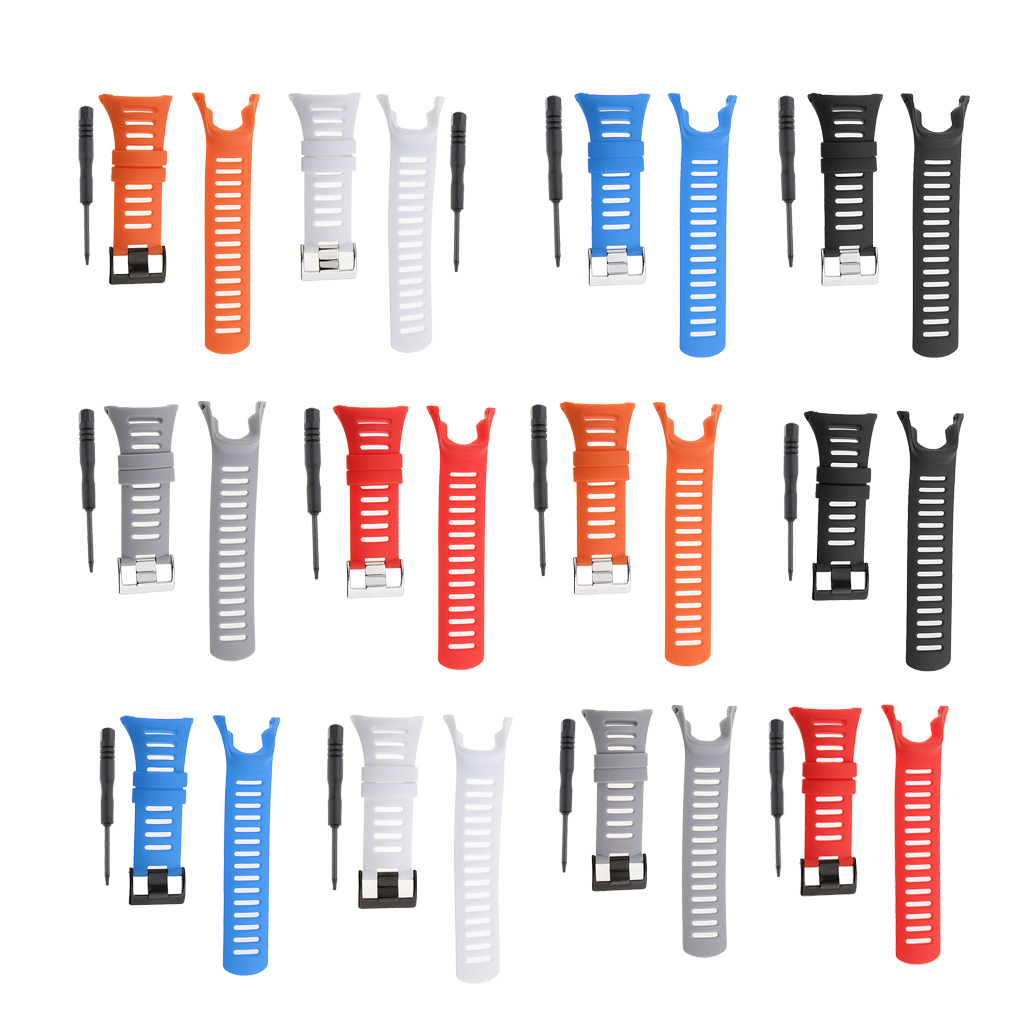Rubber Replacement Soft Wristband Watch Straps With Stainless Steel Clasp For Suunto Ambit3 Ambit 2 Ambit 1