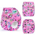 Super Cartoon Diaper Cloth Baby One Size Stay dry Couche Lavable for Newborn to 17kgs babies (WITH Bamboo Cotton Insert)