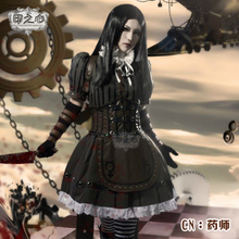 Anime!Alice:Madness Returns Alice Steam Suit Sublimation Version Dress Uniform Cosplay Costume Halloween For Women Free Shipping