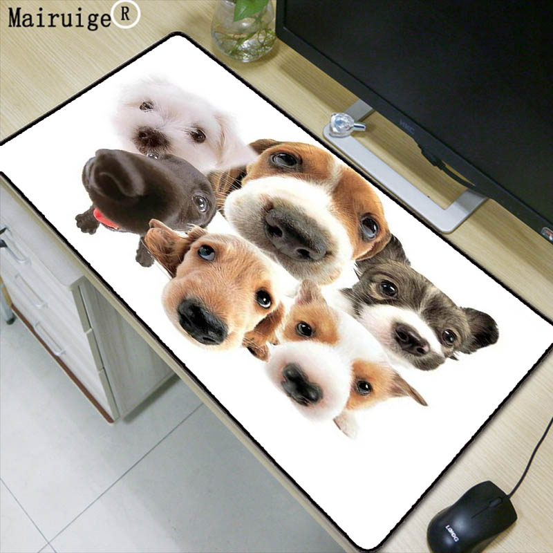 1a424c834e8e Mairuige Dog Head Animal Large Gaming Mouse Pad Lock edge Mouse Mat for  Laptop Computer Keyboard Pad Desk Pad for Dota Mousepad