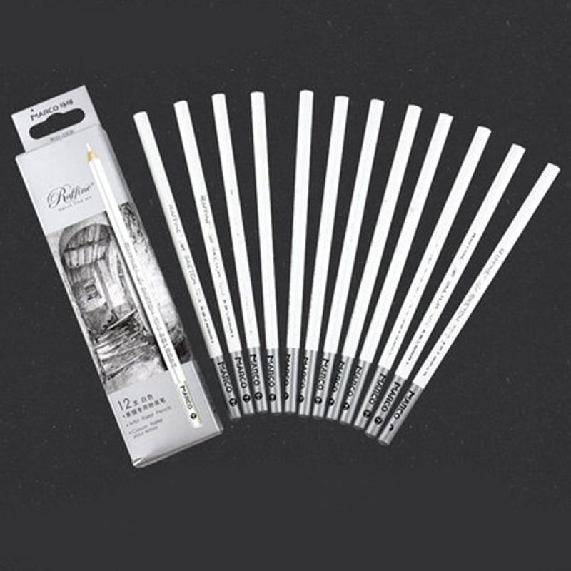 White Charcoal Pencil Set for Sketching Brown Sketch Charcoal Pencils 12pcs/set lyra художественный набор sketching set 11 предметов