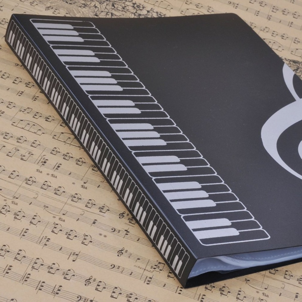 80 Sheets A4 Folders Piano Insert-type Music Book Shape File Storage Supplies Music Score Folder 2018 New Hot Sales