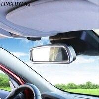 ABS/stainless steel strip wnętrz Samochodów lusterko wsteczne ramki dekoracyjne pokrywa zgrabna 3D naklejki dla Volvo XC60 s60 v60 v40 s80