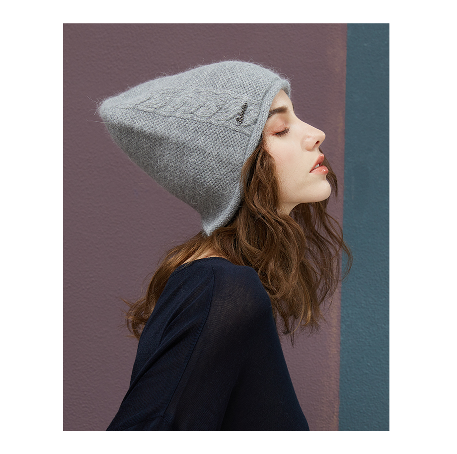 2018 New Women Baggy Bonnet Beanies Female Rabbit Hair Wool Knitted Winter Hats Soft Skiing Slouchy Beanie With Back Opening (6)