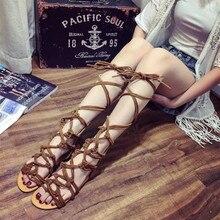 Gladiator sandalen frauen schuhe gladiator reife abdeckung ferse sommer schuhe große größe 35-43 wohnungen schwarze schuhe sandale femme