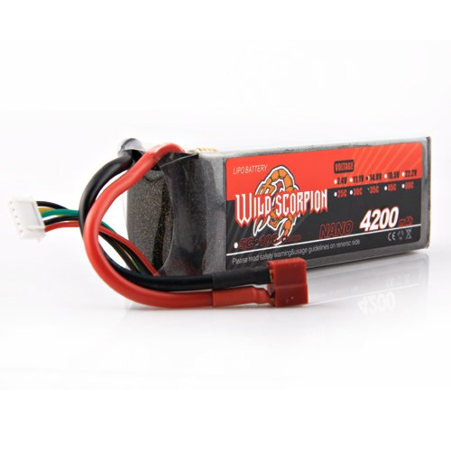 Wild Scorpion RC 14.8V 4200mAh 35C Li-polymer Lipo Battery Helicopter+free shipping wild scorpion rc 18 5v 5500mah 35c li polymer lipo battery helicopter free shipping