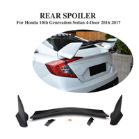 Rear Boot Spoiler Stock Spoiler For Honda Civic 10th Generation Sedan 4 Door 2016 2017 ABS