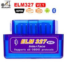 Super Mini ELM327 OBD2 Bluetooth V1.5 V2.1 Car Diagnostic Tool ELM 327 V1.5 OBD 2 Scanner Work Android Windows 12V Diesel