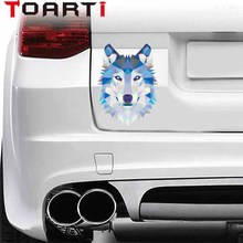 12*9.5cm wolf car sticker motorcycle Decals Fashion Animals Art Decal For Car Styling Accessories