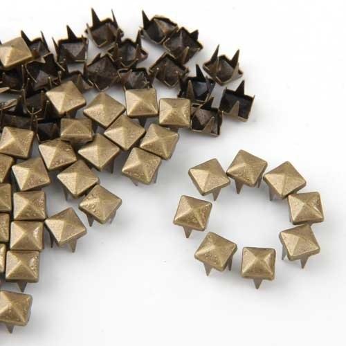 Qualità Al 100% Utile 100x6 Millimetri Fai Da Te Piramidi Rivetti Gotico Bronzo Per Cappotto Con Cintura Aspetto Attraente